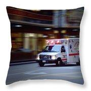 Chicago Fire Department Ems Ambulance 74 Throw Pillow