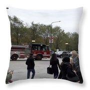 Chicago Fire Department Truck 13 Throw Pillow