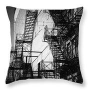 Chicago Fire Escapes 2 Throw Pillow