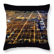 Chicago From Above 2 Throw Pillow