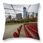 Chicago From Pritzker Throw Pillow