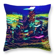 Chicago Gold Coast Abstract Throw Pillow