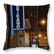 Chicago Hotel Throw Pillow