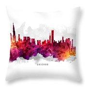 Chicago Illinois Cityscape 14 Throw Pillow