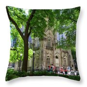 Chicago Jane Byrne Park In June Throw Pillow