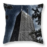 Chicago John Hancock In June Pa 01 Throw Pillow