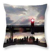 Chicago L Train Throw Pillow