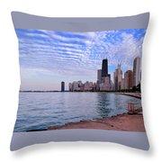Chicago Lakeshore Throw Pillow