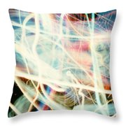 Chicago Lights 1 Throw Pillow by JC Armbruster