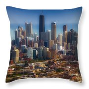 Chicago Looking East 01 Throw Pillow