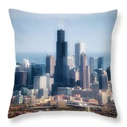 Chicago Looking East 02 Throw Pillow