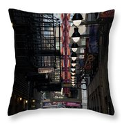 Chicago Loop, Goodman Theater Marguee Throw Pillow