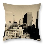 Chicago Loop Skyline Throw Pillow