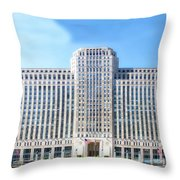 Chicago Merchandise Mart South Facade Throw Pillow