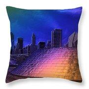 Chicago Millennium Park Bp Bridge Pa 01 Prismatic Throw Pillow