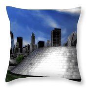 Chicago Millennium Park Bp Bridge Pa 01 Throw Pillow