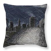 Chicago Millennium Park Bp Bridge Pa 02 Throw Pillow