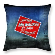 Chicago Milwaukee St. Paul And Pacific Throw Pillow
