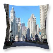 Chicago Miracle Mile Throw Pillow