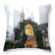 Chicago Mist Throw Pillow