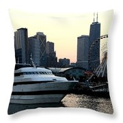 Chicago Navy Pier Throw Pillow