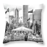 Chicago Nfl Draft Town 2016 Bw Throw Pillow