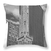 Chicago - Old Water Tower Throw Pillow by Christine Till