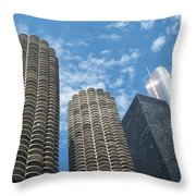 Chicago On A Bright Blue Day Throw Pillow