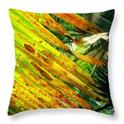 Chicago Palm House Throw Pillow