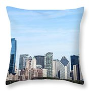 Chicago Panoramic Skyline High Resolution Picture Throw Pillow