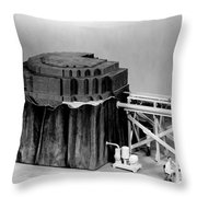 Chicago Pile-1, Scale Model Throw Pillow