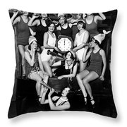 Chicago Prohibition New Years 1927 Throw Pillow