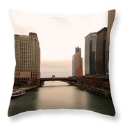 Chicago Rive Throw Pillow