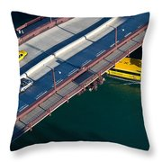 Chicago River Crossing Throw Pillow