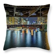 Chicago River Hd Throw Pillow