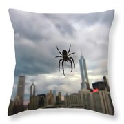 Chicago-room With A View Throw Pillow