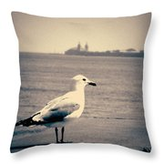 Chicago Seagull Throw Pillow