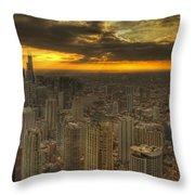 Chicago Setting Throw Pillow