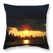 Chicago Silhouette Throw Pillow
