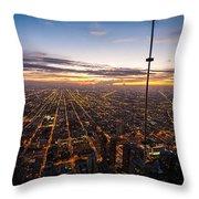 Chicago Skies Throw Pillow