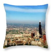 Chicago Skyline - 1990s Throw Pillow