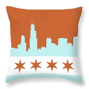 Chicago Skyline 540 3 Throw Pillow