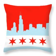 Chicago Skyline 541 1 Throw Pillow