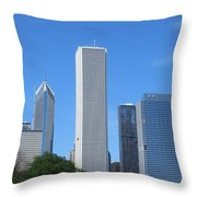 Chicago Skyline 6 Throw Pillow
