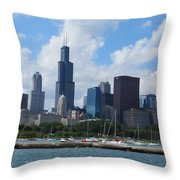 Chicago Skyline 7 Throw Pillow
