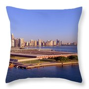 Chicago Skyline, Filtration Plant Throw Pillow