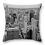 Chicago Skyline Landscape Throw Pillow