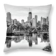 Chicago Skyline - Lincoln Park Throw Pillow