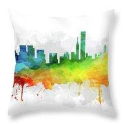 Chicago Skyline Mmr-usilch05 Throw Pillow