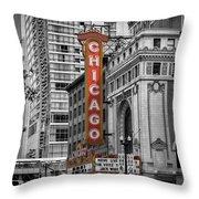 Chicago State Street Throw Pillow
